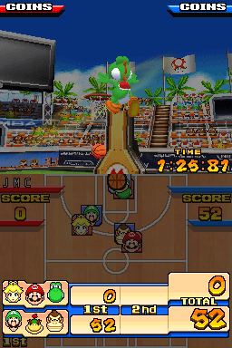 Mario Basketball 3 on 3 on Medusa