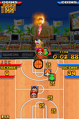 Mario Basketball 3 on 3 on melonDS